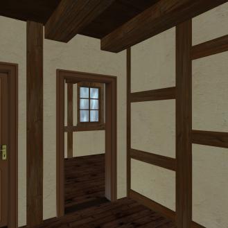 10 Fachwerk Double House - door to bedroom 2